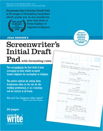The Screenwriter's Initial Draft Pad